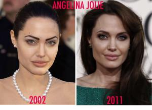 Angelina Jolie e suas sobrancelhas perfeitas.